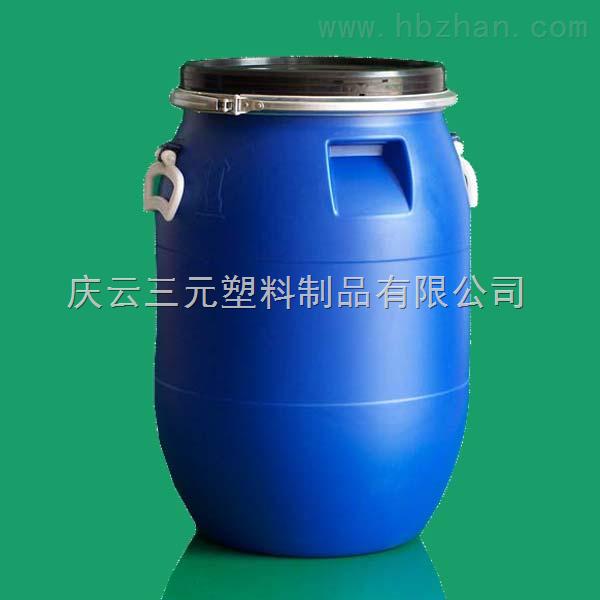 60l塑料桶 供应60l60kg食品化工法兰出口商检塑料桶