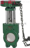 ZL73X-6/10/16鏈輪式對夾式鑄鐵漿液閥