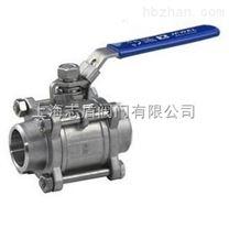三片式焊接球閥Q61F 不鏽鋼對焊球閥