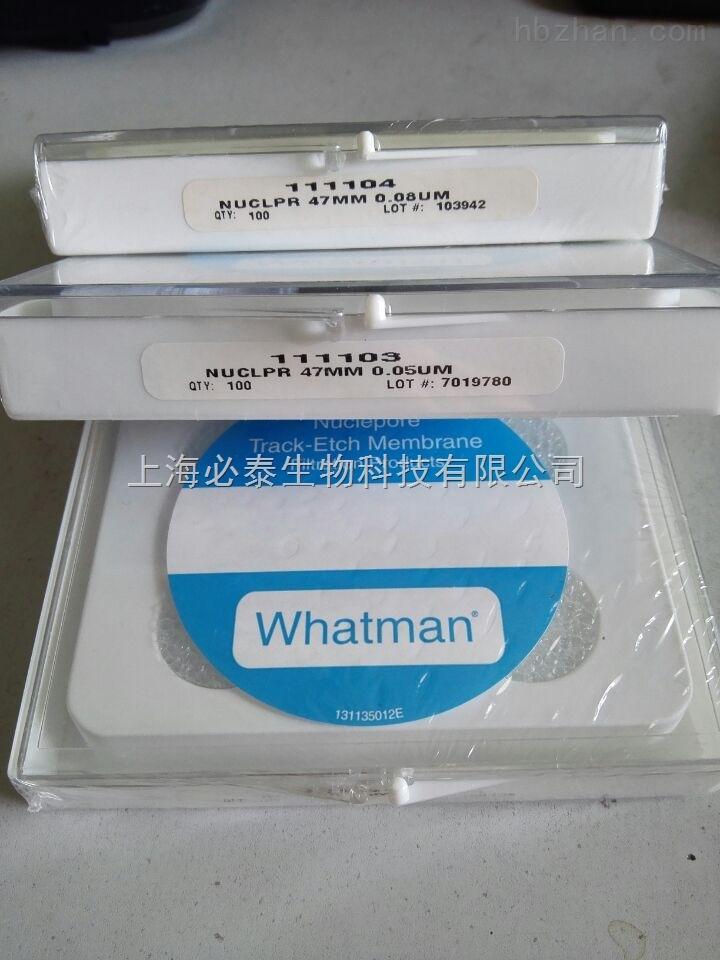 whatman WHATMAN聚碳酸酯膜 PC膜 111103 50纳米滤膜