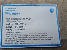 whatman FTA口腔卡中国*WB129236(China Indicating FTA