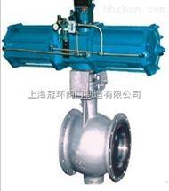 上海QP647F氣動側裝式偏心半球閥