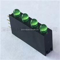 发光二极管厂家直插3mm绿发绿带灯座高亮带3孔3灯