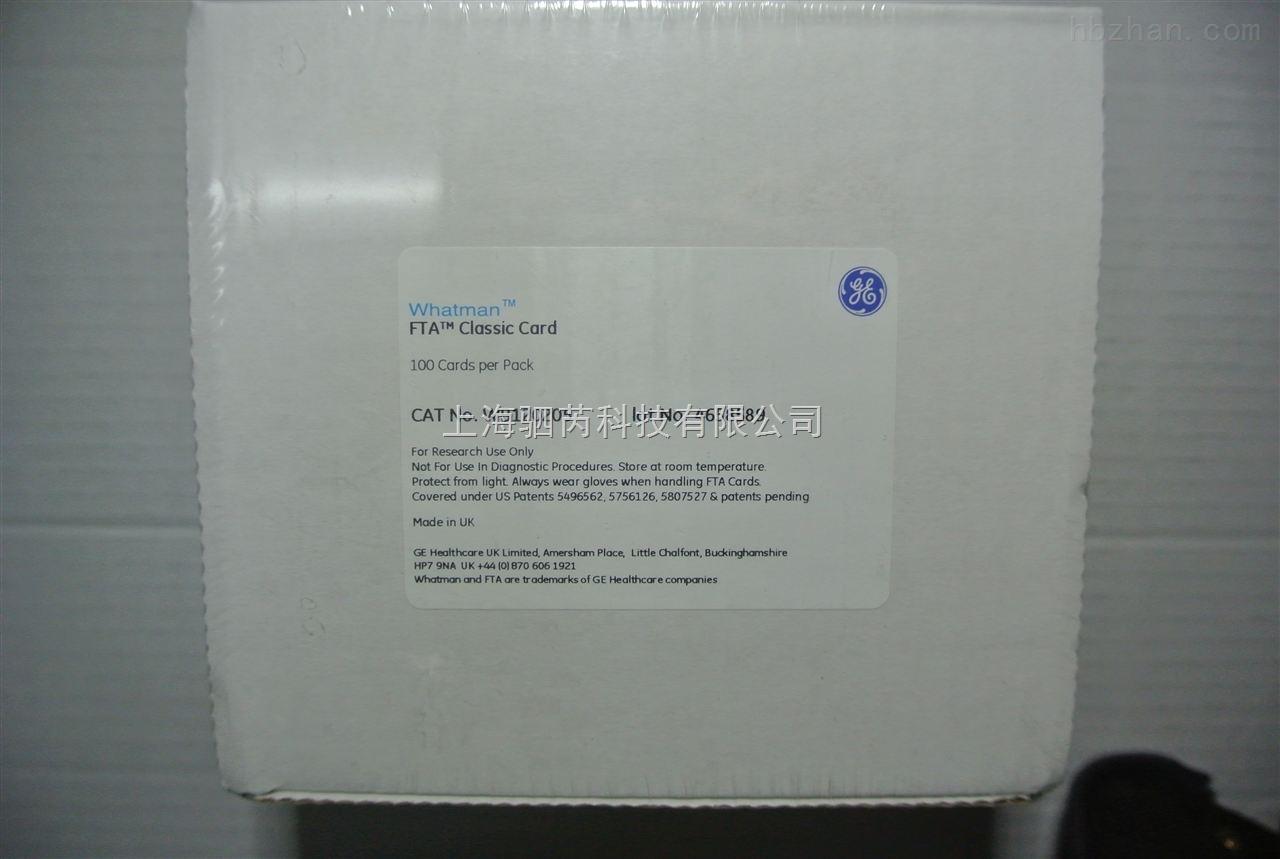 GE Whatman普通FTA卡标准卡WB120205