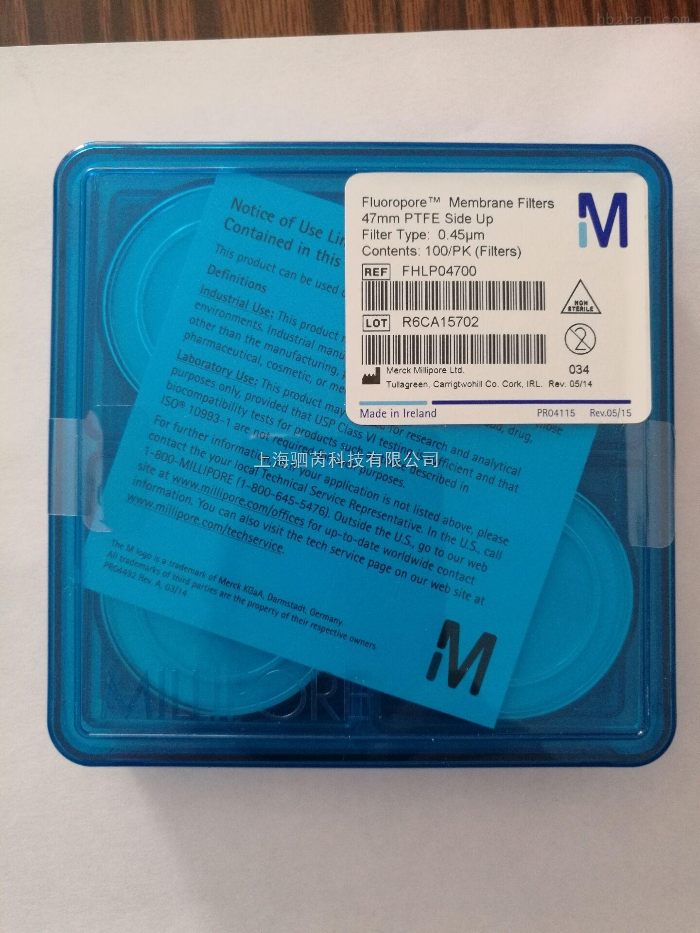 Millipore Fluoropore 表面滤膜FHLP04700