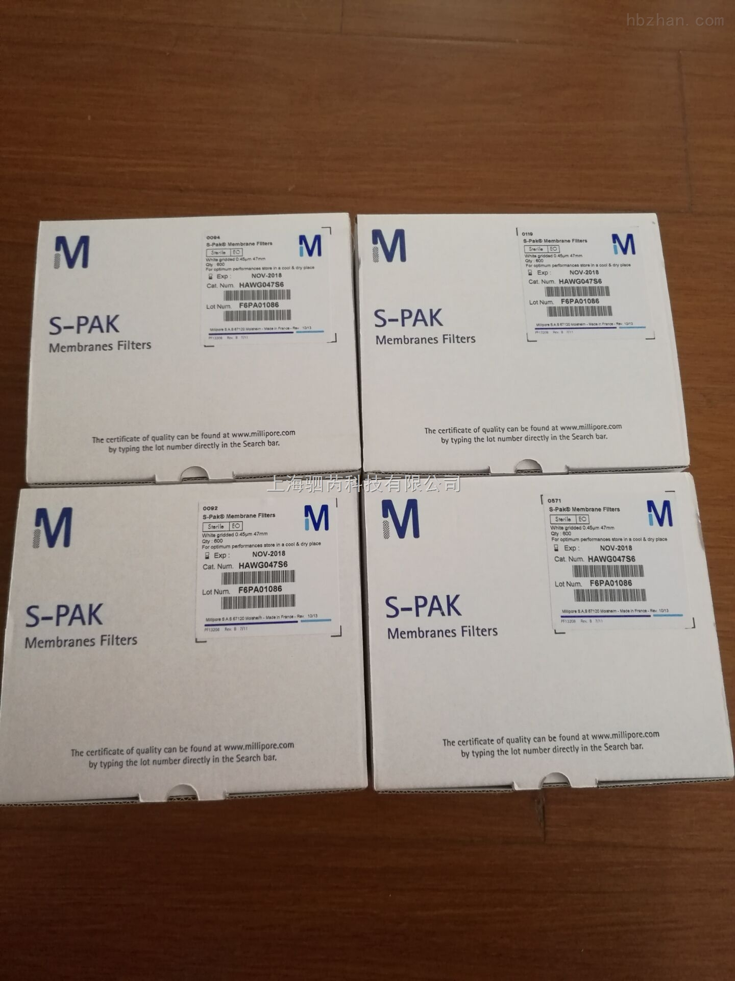 美国 Merck Millipore无菌单片过滤膜0.45µm 47mm HAWG047S
