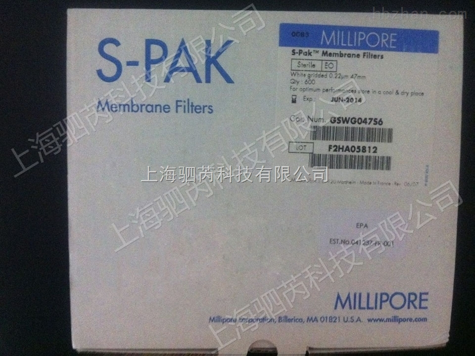 Merck Millipore密理博S-Pak滤膜 0.22um白色网格膜