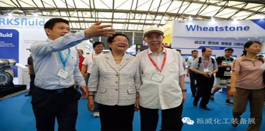十届全国人大顾秀莲副委员长勉励上海化工装备展做大做强