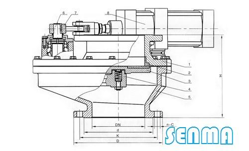 bz643tc耐磨陶瓷阀结构图