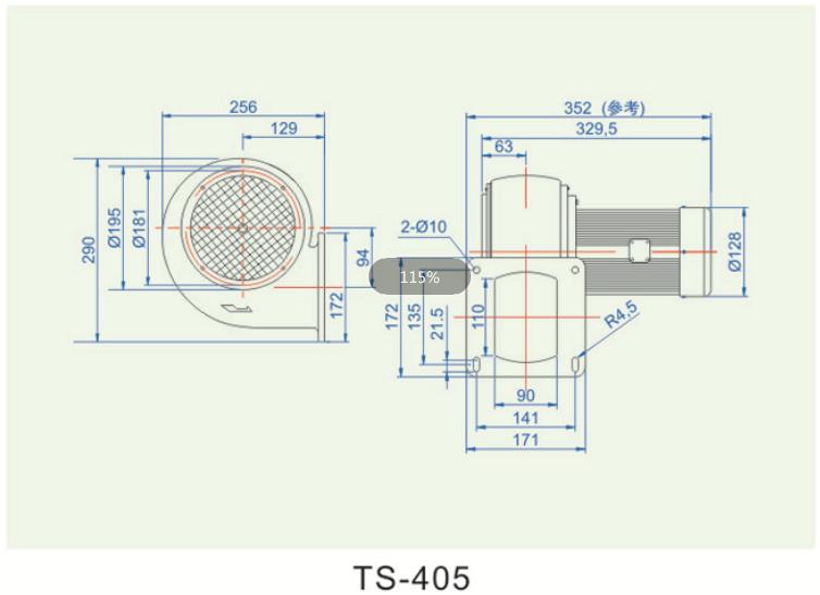 低压冷却鼓风机TS-405报价