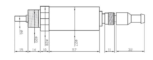 代加工oem航插式pt100铂热电阻温度变送器贴牌生产6302a型