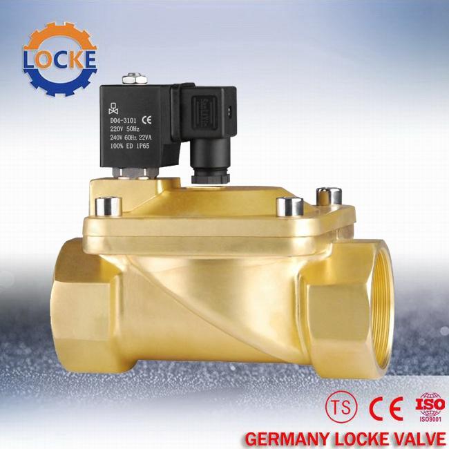 > 现货供应进口黄铜电磁阀  德国洛克原厂标准 适用介质 空气,水,油等图片