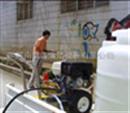 高壓水清洗臺階上的污漬/墻磚清洗高壓清洗機